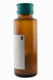 干燥粉末糖浆瓶展示水平的混杂 库存图片