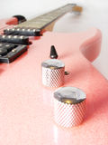 电吉他粉红色 库存图片