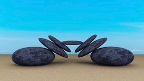 Камни сбалансировали конспект Стоковые Изображения RF