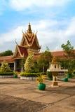 王宫在金边,柬埔寨 免版税库存照片