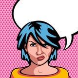 恼怒的妇女 免版税库存照片
