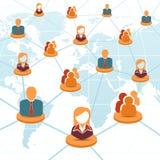 社会网络和配合概念 免版税库存图片