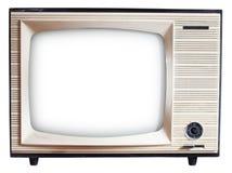 老俄国人电视机 免版税图库摄影
