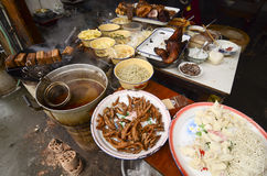 著名快餐在四川。 库存照片