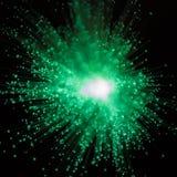 Πράσινη έκρηξη του φωτός Στοκ φωτογραφία με δικαίωμα ελεύθερης χρήσης