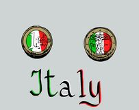 Итальянское евро Стоковое Фото