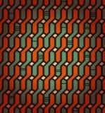 线性无缝的几何样式。装饰网络背景。柳条制品 免版税库存图片