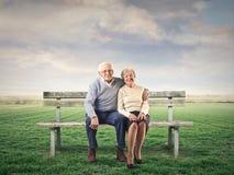 老男人和妇女 免版税库存照片