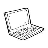 动画片便携式计算机 免版税图库摄影