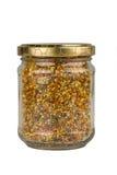 瓶子新鲜的蜂花粉 库存图片