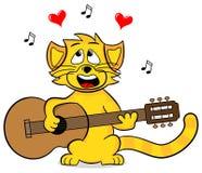 Γάτα τραγουδιού Στοκ Εικόνες