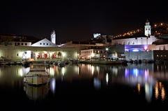 克罗地亚杜布罗夫尼克市晚上 库存照片