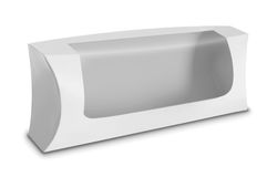 Άσπρο κιβώτιο συσκευασίας προϊόντων με το παράθυρο Στοκ Εικόνα