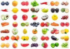 被设置的水果和蔬菜 免版税库存图片