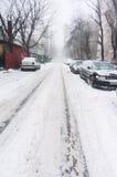 Пустая улица города Стоковые Фотографии RF