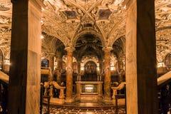 孔波斯特拉的圣地牙哥大教堂 免版税库存照片