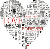 Облако слова влюбленности Стоковое Фото