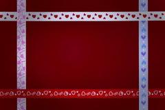 Κορδέλλες καρδιών Στοκ Εικόνες