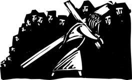 基督轴承十字架 库存图片