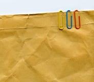 纸夹 免版税库存图片