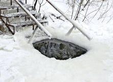 Τρύπα για την κολύμβηση Στοκ Εικόνες