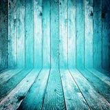 老脏的蓝色木背景 免版税库存图片