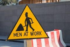 工作标志的人 免版税库存照片