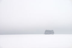 白色冬天风景 免版税库存图片