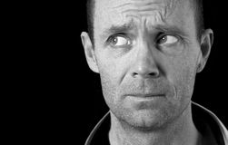 Επανδρώνει το πρόσωπο Στοκ εικόνα με δικαίωμα ελεύθερης χρήσης