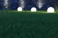发光的球形低角度 库存图片
