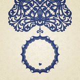 在维多利亚女王时代的样式的传染媒介巴洛克式的框架。 免版税图库摄影