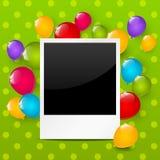Рамка фото дня рождения Стоковое фото RF