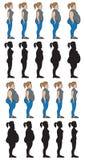 Вес ставит женщину Стоковое Изображение RF