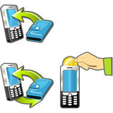 账单移动电话 免版税库存图片