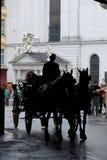 лошадь нарисованная экипажом Стоковые Фото