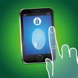 Διανυσματική κινητή έννοια τηλεφωνικής ασφάλειας Στοκ Εικόνες