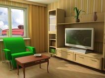 现代生活或客厅 库存图片