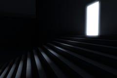 Βήματα που οδηγούν στο φως Στοκ Φωτογραφίες