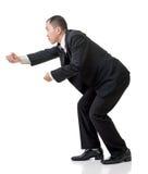 Веревочка владением бизнесмена Стоковые Фото