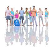 Группа в составе здоровые люди в фитнесе Стоковая Фотография