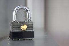 Золотое сердце Стоковые Фото