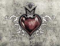 Ημέρα βαλεντίνων. Σκίτσο της τέχνης δερματοστιξιών, φυλετικό σχέδιο, καρδιά Στοκ εικόνες με δικαίωμα ελεύθερης χρήσης