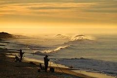 在加利福尼亚海洋海岸的日出 免版税库存图片