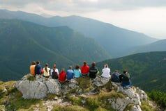 Τοπίο βουνών στη Σλοβακία Στοκ Εικόνες