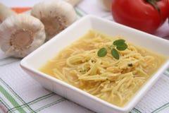 Куриный суп с лапшами Стоковые Изображения RF