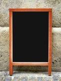 古板的菜单板 库存照片