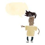 减速火箭的动画片凉快的孩子 免版税图库摄影