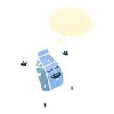 动画片牛奶纸盒 库存图片