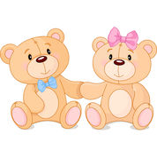 在爱的玩具熊 库存图片