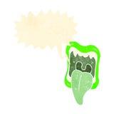 呼喊的妖怪嘴减速火箭的动画片 库存照片